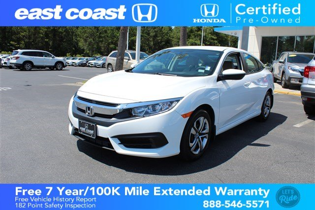 Pre Owned 2018 Honda Civic Sedan LX CVT 1 Owner, Low Miles