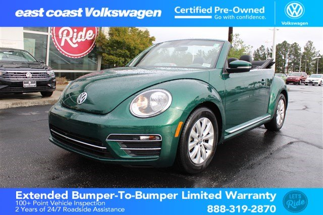 Certified Pre-Owned 2017 Volkswagen Beetle Convertible 1.8T S 1 Owner, Low Miles