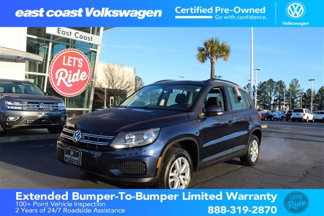 Certified Pre-Owned 2016 Volkswagen Tiguan S w/Heated Seats & Bluetooth