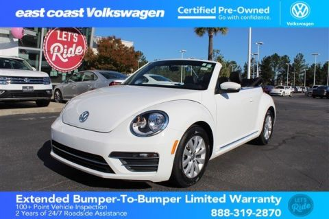 Certified Pre-Owned 2018 Volkswagen Beetle Convertible S 1 Owner, Low Miles